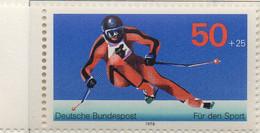 PIA - GERMANIA - 1978 : Sovrattassa A Favore Della Fondazione Per L' Aiuto Allo Sport -  (Yv 805) - Sci