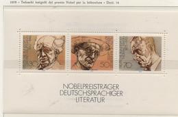PIA-GE -1977 : Scrittori Tedeschi Vincitori Del Premio Nobel Per La Letteratura  - (Yv  Bf 15) - [7] Federal Republic