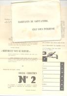 SAINT - ANDRE ( Dalhem ) Elections Communales De 1958 - Listes, Programmes, Partis, ..4 Documents + Env..(b253) - Vecchi Documenti