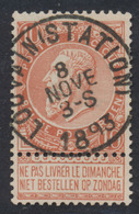 """Fine Barbe - N°57 Obl Simple Cercle (concours) """"Louvain (Station)"""" - 1893-1900 Fine Barbe"""