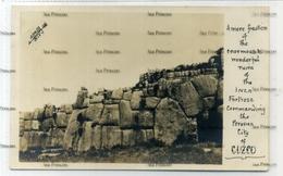 Peru Postcard 1900s Ruinas Incaicas Pubelo De Pisaac Cuzco Real Photo Postcard - Peru