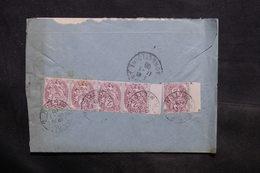 FRANCE - Affranchissement Au Type Blanc De Paris Au Verso D'une Enveloppe Pour Chagny En 1908 - L 34332 - Marcophilie (Lettres)