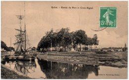 35 REDON - Entrée Du Port Et Croix-Signal - Redon