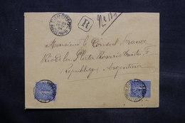 FRANCE - Enveloppe En Recommandé De Saint Jean Pied De Port Pour L 'Argentine ( Consul De France ) En 1904 - L 34335 - Marcophilie (Lettres)