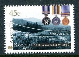 Australia 2000 50th Anniversary Of Korean War MNH (SG 1971) - 2000-09 Elizabeth II