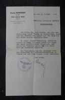 FRANCE / ALLEMAGNE - Courrier D'un Notaire De Sulz Unterm Wald En 1941, écrit En Allemand - L 34336 - Vecchi Documenti