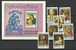 Grenada/Grenadinen 140/Block 16 ** - Weihnachten 1975 - Grenada (1974-...)