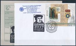2017 Reformáció Blokk 2017 Szept. 08. Postai Megjelenési Bélyegzéssel és 'Luther 2017 500 Jahre Reformation' Fedélzeti B - Stamps