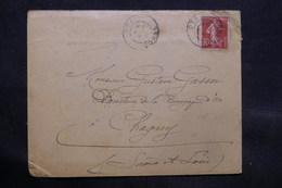 FRANCE - Enveloppe De Ota ( Corse ) Pour Chagny En 1911 - L 34339 - Marcophilie (Lettres)