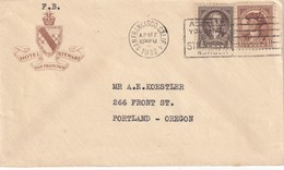 USA 1932 LETTRE DE SAN FRANCISCO  HOTEL STEWART - Cartas
