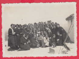 244861 / Varna - GALATA 1935 SCHOOL GIRL UNIFORM , Sailor MILITARY MAN  , Vintage Original Photo , Bulgaria Bulgarie - Personnes Anonymes