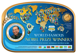 Togo. 2019 World-famous Nobel Prize Winners Liu Xiaobo (1955–2017), Nobel Peace Prize, 2010). (0243d)  OFFICIAL ISSUE - Nobel Prize Laureates
