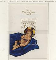PIA - GERMANIA -1978 : Natale - Particolare Di Una Vetrata Della Chiesa Di Nostra Signora A Monaco   - (Yv  Bf 16) - Vetri & Vetrate