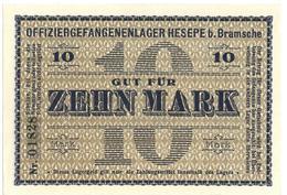 10 ZEHN MARK PRIGIONIERI DI GUERRA WWI HESEPE GERMANIA RARO QFDS - [ 1] …-1946 : Kingdom