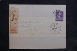 FRANCE - Lettre En Recommandé De Macon Pour Chalon En 1911 , Affranchissement Semeuse - L 34346 - Marcophilie (Lettres)