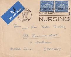 GRANDE-BRETAGNE 1948 PLI AERIEN DE ALDERSHOT - 1902-1951 (Re)