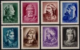 ~~~ Slovakia 1944 - Kings & Rulers  -  No WM , Perf 14 - Mi. 134/141  ** MNH OG  ~~~ - Ungebraucht