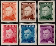 ~~~ Slovakia 1945 - President Tiso -  Perf 14 - Mi. 156/161  ** MNH OG  ~~~ - Ungebraucht