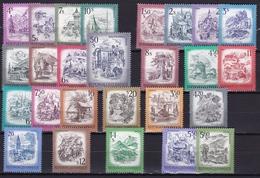 AUSTRIA 1973 - 1982 Schönes Osterreich 26 Different MNH Stamps Michel Between 1430 - 1711 - Zonder Classificatie