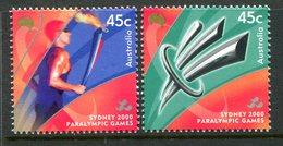Australia 2000 Paralympic Games, Sydney - 2nd Issue - Set MNH (SG 2053-2054) - 2000-09 Elizabeth II