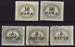 Osterreich / Austria Levant 1902 Portomarken Mit Aufdruck In Türkischen Wahrung Mi. P 1 B - 2 / 5 A - Oostenrijkse Levant