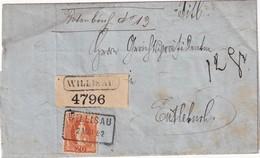 SUISSE 1882 LETTRE DE WILLISAU POUR ENTLEBUCH - Briefe U. Dokumente