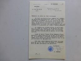 86 Liniers Pour 86 Saint-Gaudens, Lettre Autographe Maire/ Agence Postale (PTT) Ref 340 ; PAP04 - Autogramme & Autographen