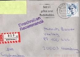! 1 Einschreiben 1994  Mit  R-Zettel  Aus Borken, 46325 - BRD