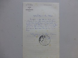 86 MASSOGNES 1956, Lettre Autographe Maire/ Agence Postale (PTT) Ref 331 ; PAP04 - Autogramme & Autographen