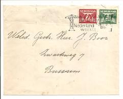 Lebeau PAARTJE 7 1/2c + 2 1/2 C N.V.P.H. 379a. Hilversum 26.5.48 Stempel Nederland Werkt - 1891-1948 (Wilhelmine)