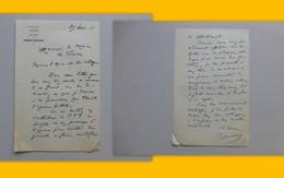 86 MARIGNY-CHEMEREAU 1956, Lettre Autographe Maire/ Agence Postale (PTT) Ref 333 ; PAP04 - Autogramme & Autographen