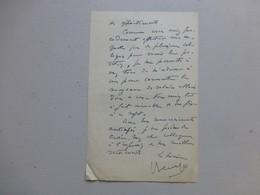86 MARIGNY-CHEMEREAU 1956, Lettre Autographe Maire/ Agence Postale (PTT) Ref 341 ; PAP04 - Autogramme & Autographen