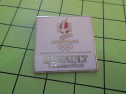 510c Pins Pin's / Rare & Belle Qualité THEME JEUX OLYMPIQUES / ALBERTVILLE 1992 RENAULT PARTENAIRE OFFICIEL - Olympic Games