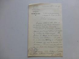 86 Saint-Rémy-sur-Creuse 1956, Lettre Autographe Maire/ Agence Postale (PTT) Ref 345 ; PAP04 - Autogramme & Autographen