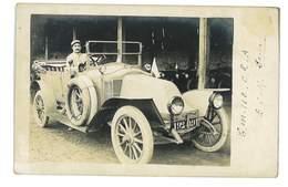 CARTE-PHOTO 94 ROSNY-SOUS-BOIS 1917 MILITAIRE AU VOLANT D UNE BELLE RENAULT - Autres Communes