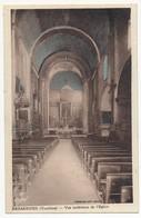 CPA - BÉDARRIDES (Vaucluse) - Vue Intérieure De L'Eglise - Francia