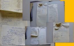 Charles Trenet, Lot De 2 Feuilles Agenda Années 60, Peut-être Avec Parties Autographes, Son Fils Michel ? 347 ; PAP04 - Autografi