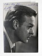 Cinema Teatro - Autografo Dell'attore Carlo Hintermann - Anni '60 - Autografi