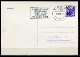 """DDR,GDR 19 Stempelkarte  Mit Mi.Nr.435 Und Propagada MWST""""Potsdam-10 Jahre Deutsche Post,10 Jahre Arbeit......""""1 Beleg - Krankheiten"""