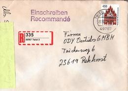 ! 1 Einschreiben 1993 Mit Selbstklebenden R-Zettel  Aus Twist, 49767 - [7] République Fédérale