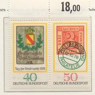 PIA - GERMANIA  - 1978  :  Giornata Del Francobollo  -  (Yv  827-28) - Giornata Del Francobollo