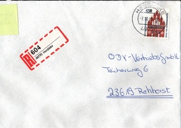 ! 1 Einschreiben 1993 Mit Selbstklebenden R-Zettel  Aus Herzlake, 49770 - R- & V- Labels