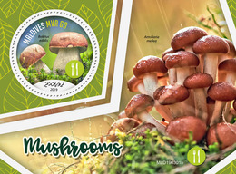 Maldives. 2019 Mushrooms. (0301b)  OFFICIAL ISSUE - Funghi