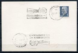 """DDR,GDR 1971 Stempelkarte Mit Mi.Nr.845 Und MWST""""Oranienburg-LUNGEN TBC,Frühes Erkennen-gute Heilungsaussichten """"1 Beleg - Krankheiten"""