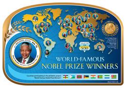 Maldives. 2019 World-famous Nobel Prize Winners (Nelson Mandela (1918–2013), Nobel Peace Prize, 1993).  OFFICIAL ISSUE - Premio Nobel