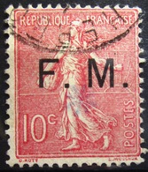 FRANCE              F.M 4              OBLITERE - Franchise Militaire (timbres)