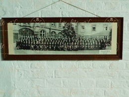 Photographie Argentique Panoramique N/B Encadrée Sous Verre - élèves De L'école Des Soeurs De Champion Namur 1935-1936 - Personas Identificadas