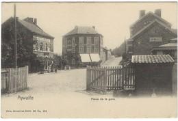 CPA - AYWAILLE - Place De La Gare  - Allemande Feldpost Targnon 1915 - Other