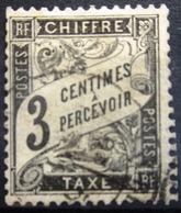 FRANCE              TAXE 3              OBLITERE - Taxes