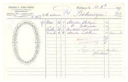 2 Documents / Honoraire / Facture Grégoire Torre Frères, , Bordeaux, Dentiste ? Dents ,1897 / 1898 - France